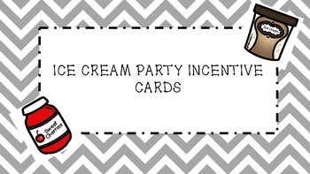 Ice Cream Sundae Incentive Punch Cards