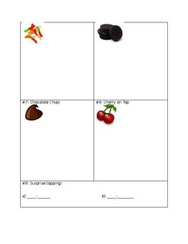 Ice Cream Sundae Math Challenge- Editable