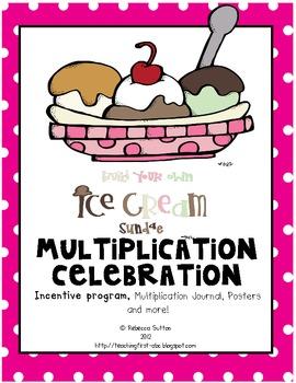 Ice Cream Sundae Multiplication Celebration-Songs, Journal and More!