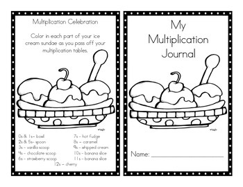Ice Cream Sundae Multiplication Journal