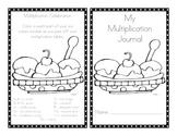 Ice Cream Sundae Multiplication Journal