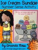Ice Cream Sundae Number Sense Activity {Representing Numbers 0-20}