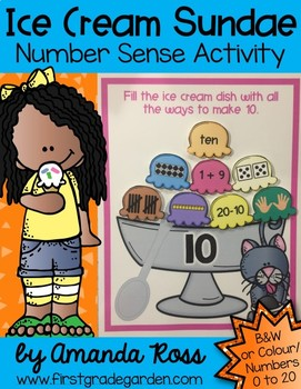 Ice Cream Sundae Number Sense Activity {Representing Numbers 0-20}