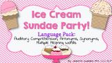 Ice Cream Sundae Language Pack: Aud memory,antonyms, Multiple Meaning Words