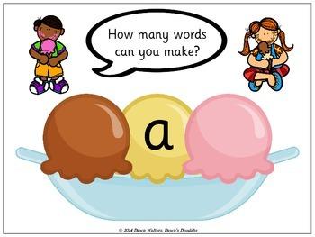 Ice Cream Sundae Word Building Fun