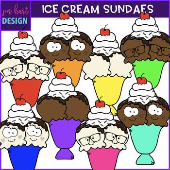 Ice Cream Sundaes Clip Art {jen hart Clip Art}