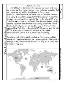 Ice Cream Tab Booklet