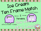 Ice Cream Ten Frame Match-6 NEW Colors