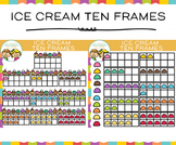 Ice Cream Ten Frames Clip Art
