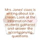 Ice Cream Text Structures Activity