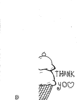Ice Cream Thank You Card