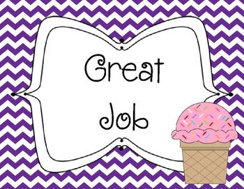 Ice Cream Theme Behavior Clip Chart {Freebie}