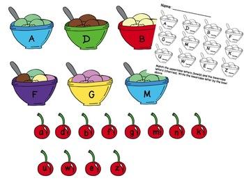 Ice Cream Theme Centers: Math & Literacy