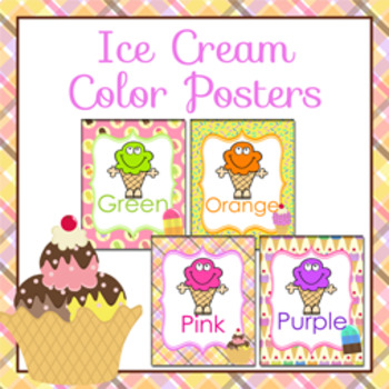 Ice Cream Theme Color Posters