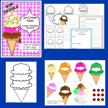Ice Cream Theme ELA Bundle