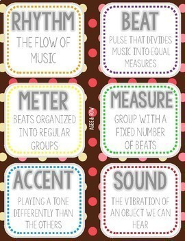 NEW! Valentine's Day Flashcards, Wall Cards, Bulletin Board - Music Vocabulary