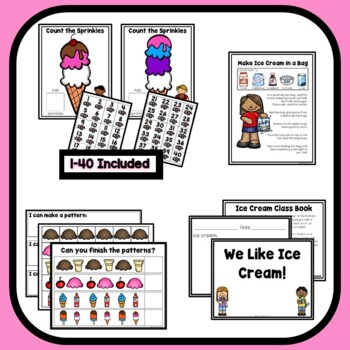 Ice Cream Theme Home Preschool Lesson Plans