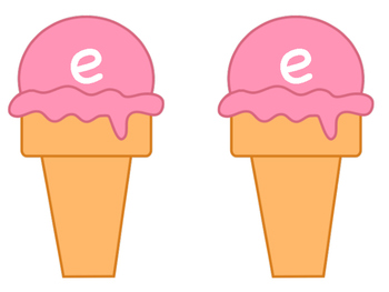 Ice Cream Theme Magic e with Consonant Blends