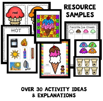Ice Cream Theme Preschool Lesson Plans