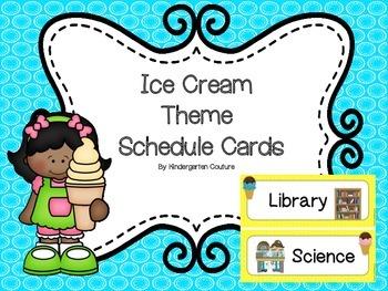 Ice Cream Theme Schedule Cards