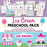Ice Cream Activities Preschool (color and black & white version)