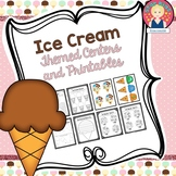 Ice Cream Themed Activities in English and Spanish for K-1