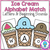 Ice Cream Themed Alphabet Match Cards