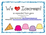 Ice Cream Themed Expanded Form Expanded Notation Game