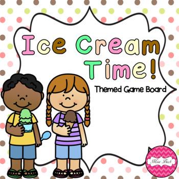 Ice Cream Themed Game Board