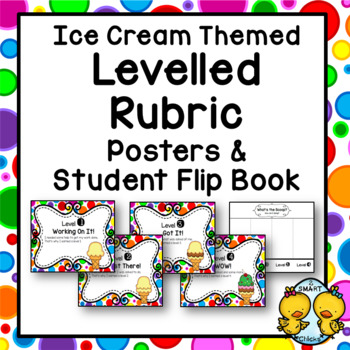 Ice Cream Themed Levelled Rubric: Posters & Student Flip Book