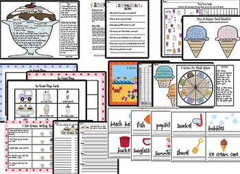 Ice Cream Themed Literacy & Math MEGA Pack-plus end of year activities