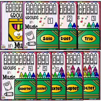 Crayon Themed Music Groups