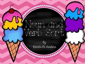 Ice Cream Themed Noun & Verb Sort