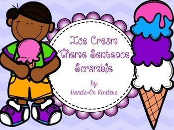Ice Cream Themed Sentence Scramble