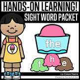 Ice Cream Themed Sight Word Packet
