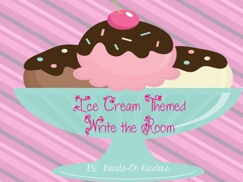 Ice Cream Themed Write the Room