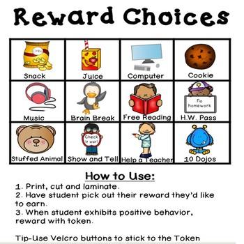 Ice Cream Token Board- Includes Reward Choices