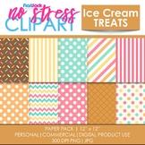 Ice Cream Treats Digital Papers