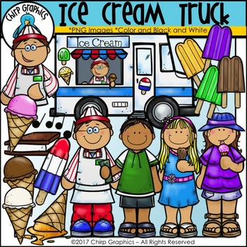 Ice Cream Truck Clip Art - Chirp Graphics