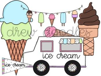 Ice Cream Truck Digital Clip Art Set