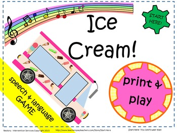 Ice Cream Truck!  Interactive Carrier Phrase Speech & Lang