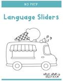 Ice Cream Truck Language Sliders: NO PREP Speech Therapy Activity