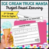 Ice Cream Truck Mania: Math Project Based Learning - 2nd -