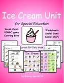 Ice Cream Unit for Community Trips {special education}