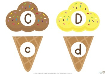 Ice Cream Upper and Lower Alphabet Match