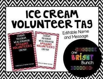 Ice Cream Volunteer Tag