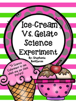 Ice-Cream Vs. Gelato Taste Testing Experiment
