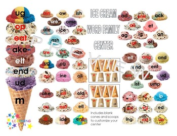 Ice Cream Word Family Center