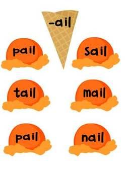 Ice Cream Word Families Kit