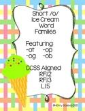 {Freebie} Ice Cream Word Families {short /o/}